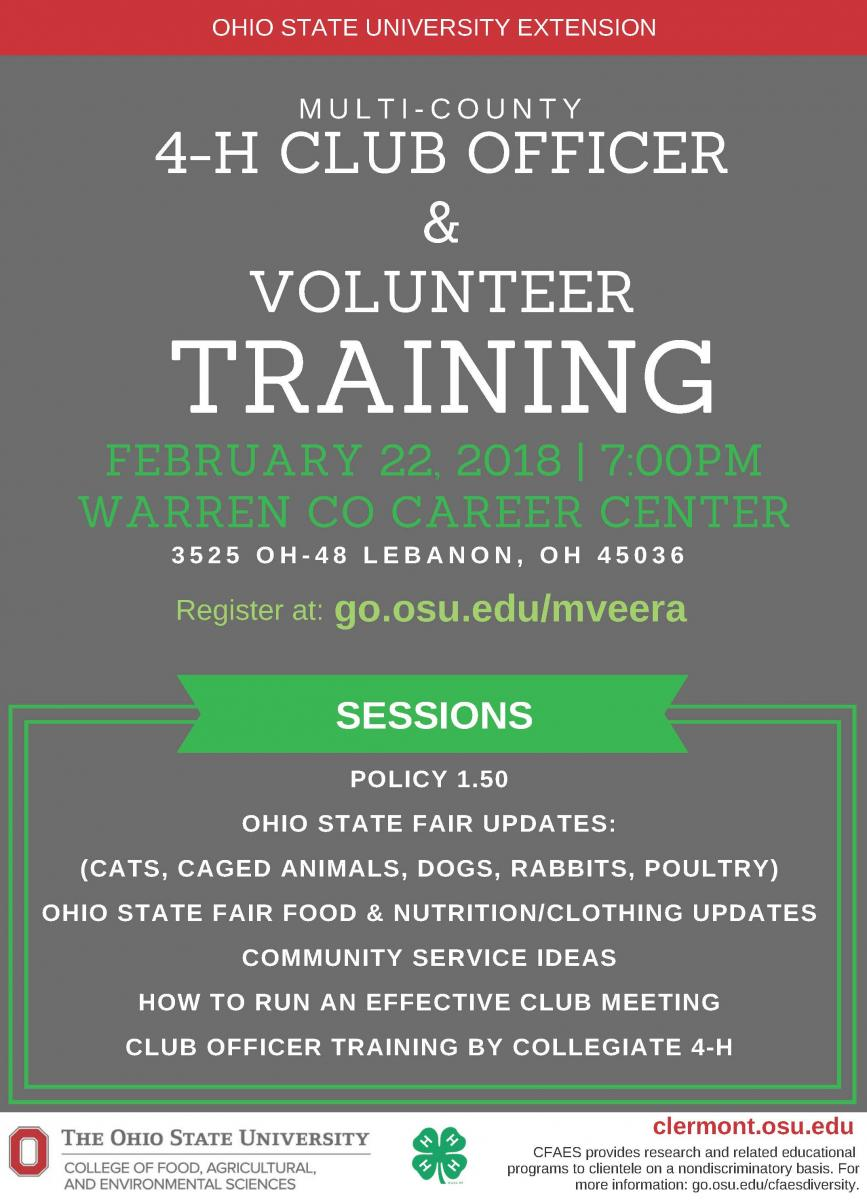 Attention 4-H Volunteers!