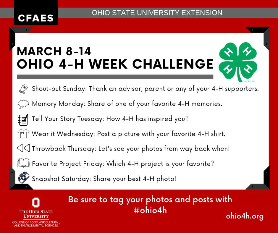 Ohio 4-H Week Challenge