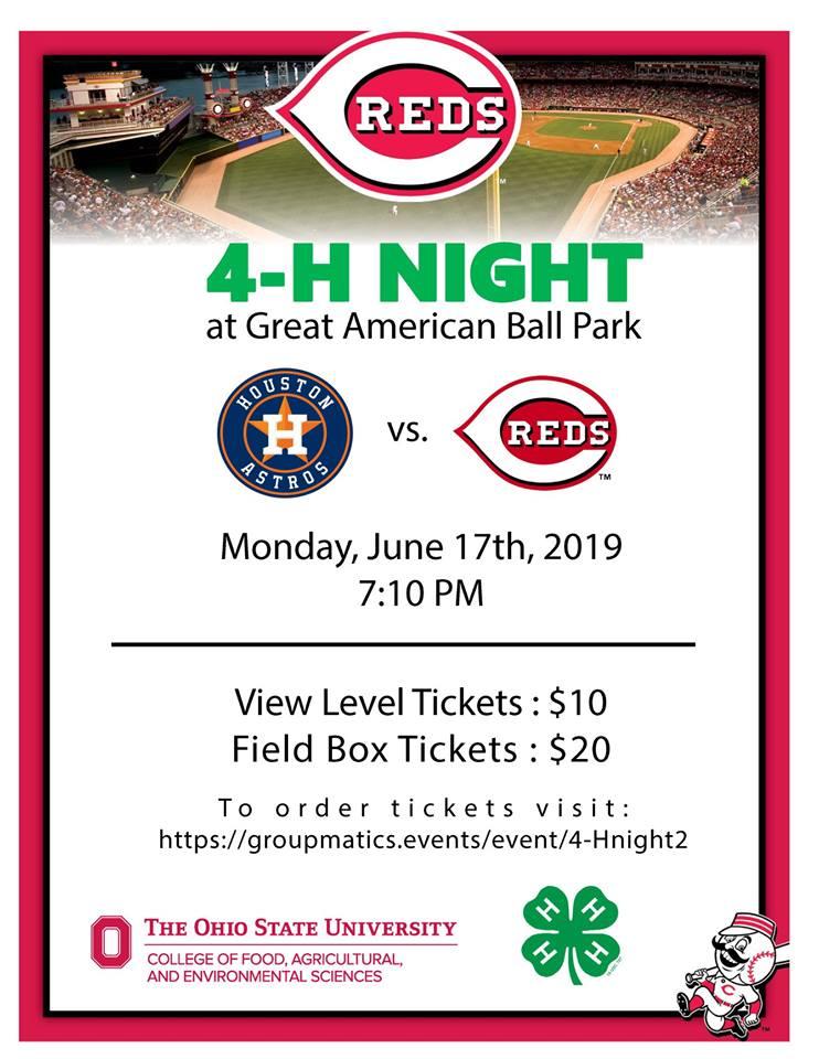 4-H Night at GABP flyer with logos